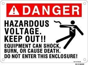 Everlast Sign, 10x14 in, Danger Haz Volt! Equip can shock
