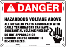 Hazardous Voltage Above