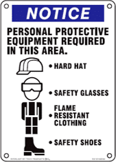 PPE Equipment Required In This Area